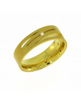 GOLDRING MIT 1 BRILLANTEN